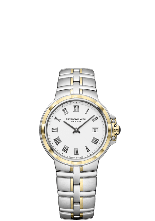 RAYMOND WEIL classic two-tone white dial parsifal ladies' quartz watch