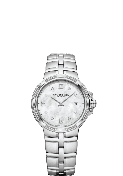 RAYMOND WEIL Parsifal ladies 56 diamond mother-of-pearl