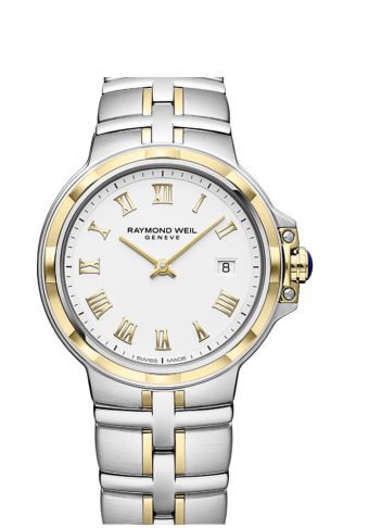 RAYMOND WEIL men's parsifal two-tone gold quartz watch